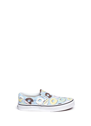 Main View - Click To Enlarge - Vans - 'Classic Late Night' donut print kids slip-ons