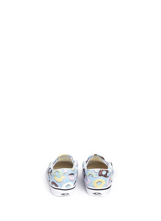 Back View - Click To Enlarge - VANS - 'Classic Late Night' donut print canvas toddler slip-ons