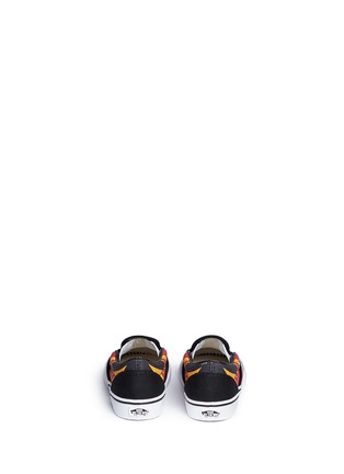 Back View - Click To Enlarge - Vans - 'Flame Classic' canvas toddler slip-ons