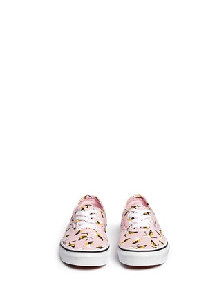 Figure View - Click To Enlarge - Vans - 'Authentic Banana' print canvas kids sneakers