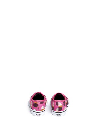 Back View - Click To Enlarge - Vans - 'Authentic Late Night' cupcake print canvas toddler sneakers