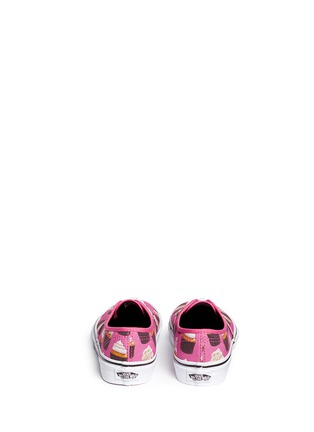 Back View - Click To Enlarge - Vans - 'Authentic Late Night' cupcake print canvas kids sneakers
