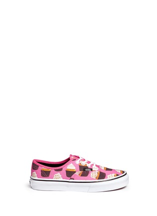 Main View - Click To Enlarge - Vans - 'Authentic Late Night' cupcake print canvas kids sneakers