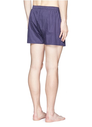 Back View - Click To Enlarge - Sunspel - 'Dot Leaf' print cotton boxer shorts