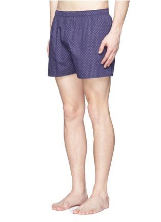 Figure View - Click To Enlarge - Sunspel - 'Dot Leaf' print cotton boxer shorts