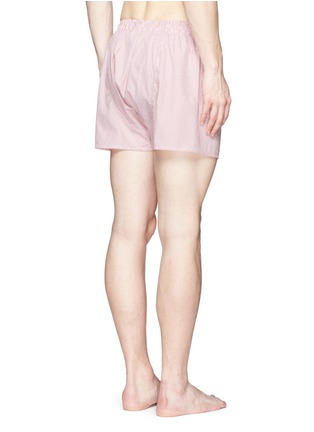 Back View - Click To Enlarge - Sunspel - 'Classic' pinstripe cotton boxer shorts