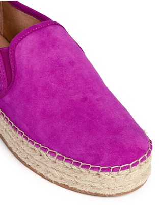 Detail View - Click To Enlarge - Sam Edelman - 'Carrin' suede flatform espadrilles