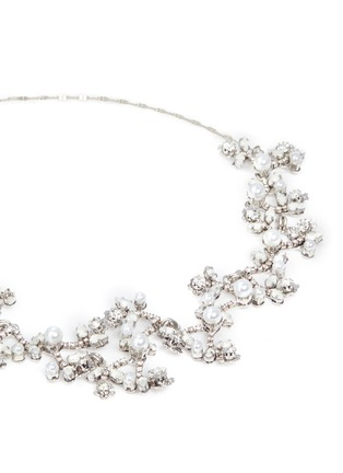 Detail View - Click To Enlarge - Erickson Beamon - 'I Do' Swarovski crystal glass pearl branch necklace