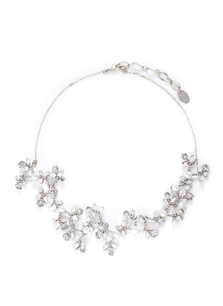 Main View - Click To Enlarge - Erickson Beamon - 'I Do' Swarovski crystal glass pearl branch necklace