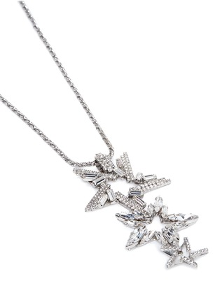 Detail View - Click To Enlarge - Erickson Beamon - 'Star Search' Swarovski crystal pendant necklace