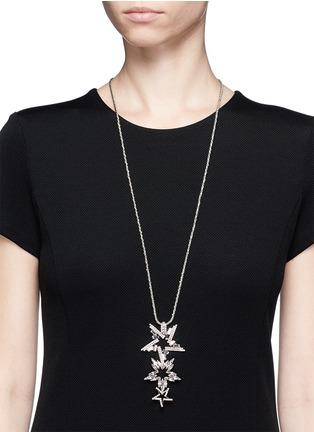 Figure View - Click To Enlarge - Erickson Beamon - 'Star Search' Swarovski crystal pendant necklace