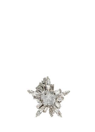 Main View - Click To Enlarge - Erickson Beamon - 'Star Search' Swarovski crystal brass ring