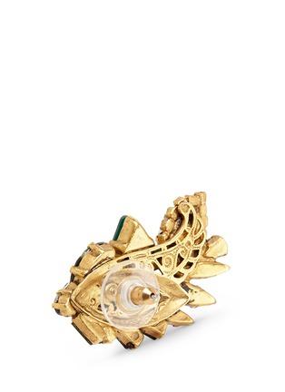 Detail View - Click To Enlarge - Erickson Beamon - 'St. Moritz' Swarovski crystal 24k gold plated earrings