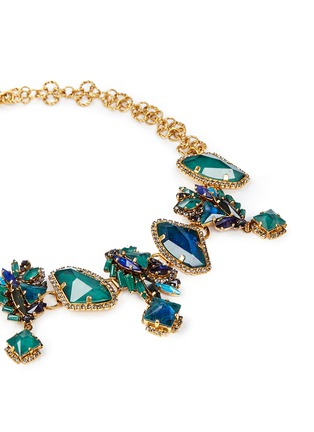 Detail View - Click To Enlarge - Erickson Beamon - 'St. Moritz' 24k gold plated Swarovski crystal necklace