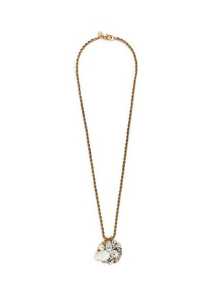 Main View - Click To Enlarge - Erickson Beamon - 'Swan Lake' Swarovski crystal pendant 24k gold plated necklace