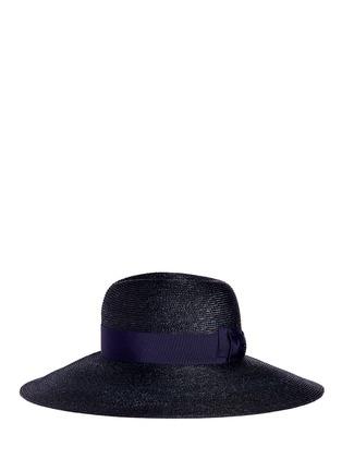 Figure View - Click To Enlarge - Lanvin - Grosgrain ribbon straw capeline hat