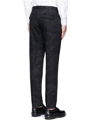 Back View - Click To Enlarge - Valentino - 'Camu Noir' cotton twill pants