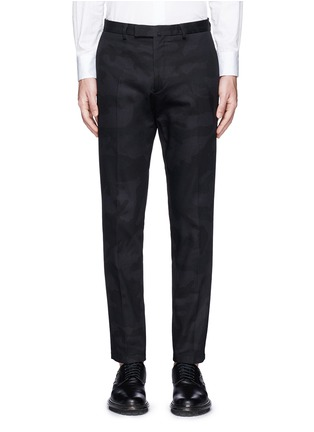 Main View - Click To Enlarge - Valentino - 'Camu Noir' cotton twill pants