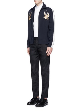 Figure View - Click To Enlarge - Valentino - 'Camu Noir' cotton twill pants