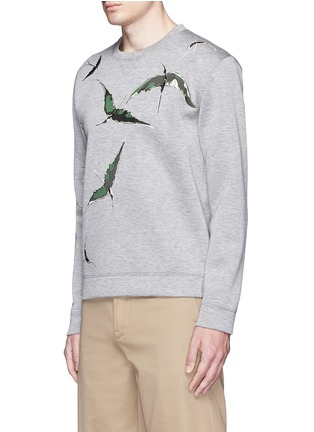 Front View - Click To Enlarge - Valentino - Bird patch appliqué scuba jersey top