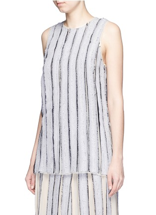 Front View - Click To Enlarge - PROENZA SCHOULER - Needle punch chiffon stripe top