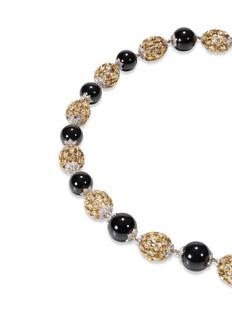 Buccellati Diamond jade bead necklace