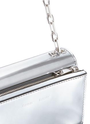 Detail View - Click To Enlarge - Proenza Schouler - 'Hava' metallic leather crossbody bag