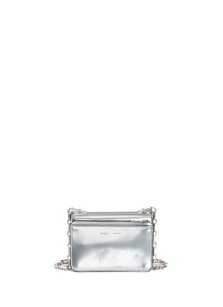 Back View - Click To Enlarge - Proenza Schouler - 'Hava' metallic leather crossbody bag