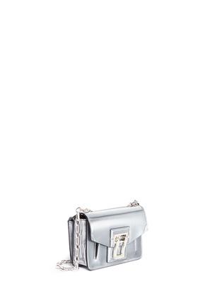 Front View - Click To Enlarge - Proenza Schouler - 'Hava' metallic leather crossbody bag