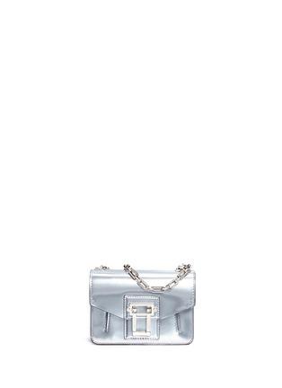 Main View - Click To Enlarge - Proenza Schouler - 'Hava' metallic leather crossbody bag