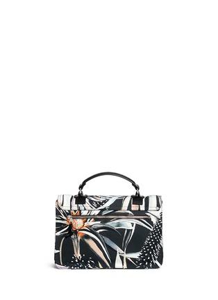 Back View - Click To Enlarge - Proenza Schouler - 'PS1' medium floral print nylon satchel