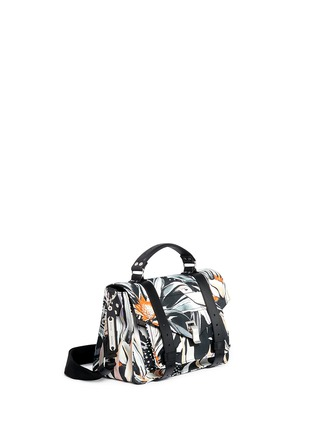 Front View - Click To Enlarge - Proenza Schouler - 'PS1' medium floral print nylon satchel