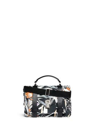 Main View - Click To Enlarge - Proenza Schouler - 'PS1' medium floral print nylon satchel