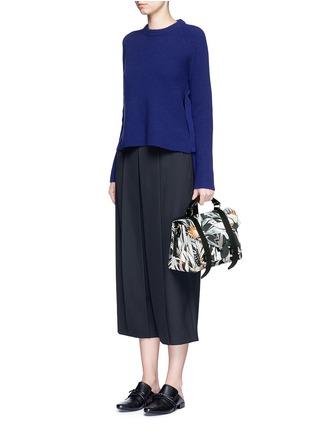 Figure View - Click To Enlarge - Proenza Schouler - 'PS1' medium floral print nylon satchel