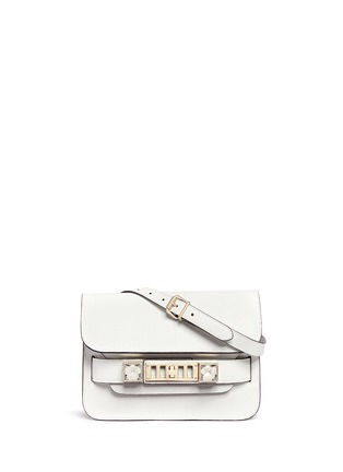 Main View - Click To Enlarge - Proenza Schouler - 'PS11' mini Classic Linosa leather satchel