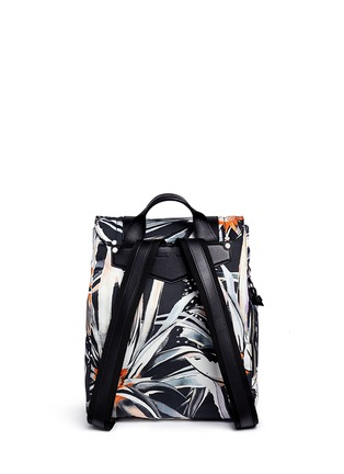 Back View - Click To Enlarge - Proenza Schouler - 'PS1' floral print nylon backpack