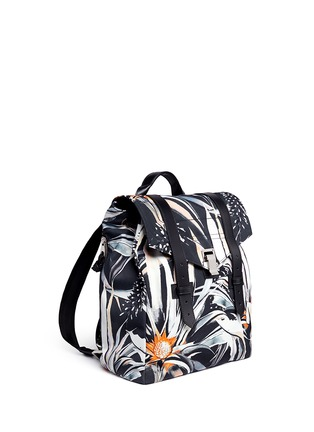 Front View - Click To Enlarge - Proenza Schouler - 'PS1' floral print nylon backpack
