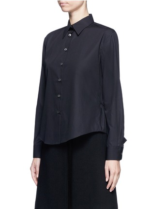Front View - Click To Enlarge - Jourden - Cutout ruffle cotton shirt