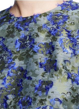 Detail View - Click To Enlarge - Jourden - Fil coupé fringe floral jacquard top