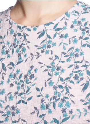 Detail View - Click To Enlarge - Jourden - Floral jacquard gathered chenille dress