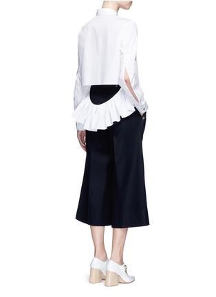 Figure View - Click To Enlarge - Jourden - Cutout ruffle cotton shirt