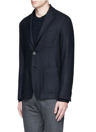 Front View - Click To Enlarge - BARENA - 'Brotto' soft wool blazer