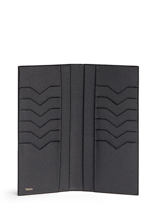 - Valextra - Leather vertical wallet