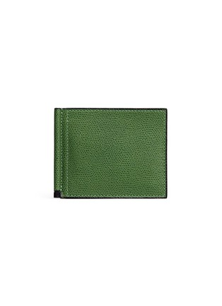 Main View - Click To Enlarge - Valextra - 'Simple Grip Spring' leather wallet