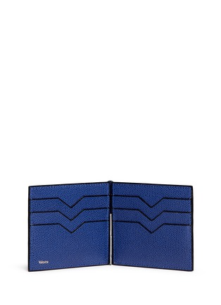 - VALEXTRA - 'Simple Grip Spring' leather wallet