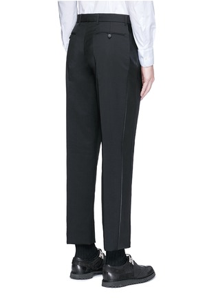 Back View - Click To Enlarge - Valentino - Leather stripe wool-Mohair pants
