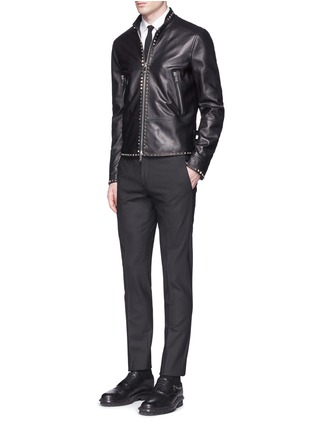 Figure View - Click To Enlarge - VALENTINO - 'Rockstud Untitled 04' leather jacket