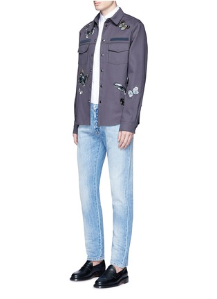 Figure View - Click To Enlarge - Valentino - 'Camubutterfly' patch shirt jacket