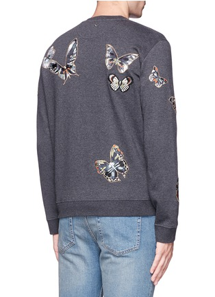 Back View - Click To Enlarge - Valentino - 'Camubutterfly' embroidery sweatshirt