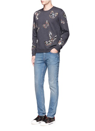 Figure View - Click To Enlarge - Valentino - 'Camubutterfly' embroidery sweatshirt